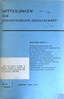 Mitteilungen der Südosteuropa-Gesellschaft