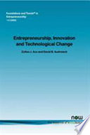 Entrepreneurship  Innovation  and Technological Change