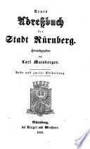 Neues Adreßbuch der Stadt Nürnberg