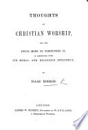 Thoughts On Christian Worship