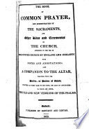 The Book of common prayer     To which are added  The old and new versions of the Psalms   2 issues