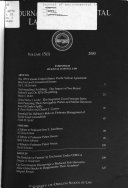 Journal of environmental law and litigation