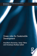 Green Jobs for Sustainable Development