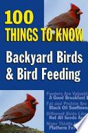 Backyard Birds And Bird Feeding book