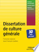 Réussir La Dissertation De Culture Générale Aux Concours par Françoise Lejeune, Jean-François Guédon