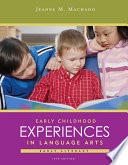 Early Childhood Experiences in Language Arts  Early Literacy