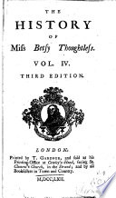 The History Of Miss Betty Thoughtless