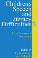 Children s Speech and Literacy Difficulties