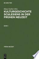 Kulturgeschichte Schlesiens in der Frühen Neuzeit