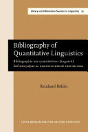 download ebook bibliography of quantitative linguistics pdf epub