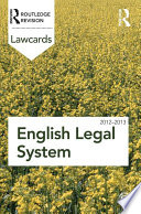 English Legal System Lawcards 2012 2013