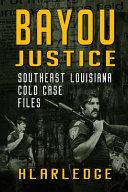 Bayou Justice Book PDF