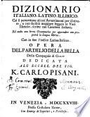 Dizionario italiano  latino  illirico