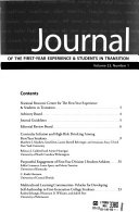 Journal of the First year Experience   Students in Transition