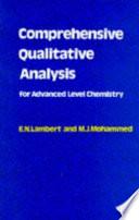 Comprehensive Qualitative Analysis for Advanced Level Chemistry