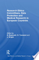 Research Ethics Committees Data Protection And Medical Research In European Countries