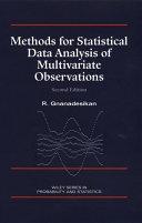 Methods for Statistical Data Analysis of Multivariate Observations