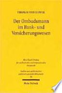 Der Ombudsmann im Bank- und Versicherungswesen