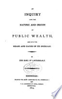 illustration du livre An Inquiry Into the Nature and Origin of Public Wealth