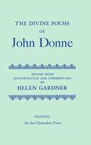 The Divine Poems of John Donne
