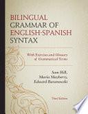 Bilingual Grammar of English Spanish Syntax