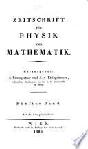 Zeitschrift fur Physik und Mathematik