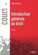illustration du livre Introduction générale au droit