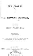 download ebook the works of sir thomas browne: pseudodoxia epidemica, books v-vii. religio medici. the garden of cyprus pdf epub