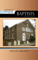 download ebook historical dictionary of the baptists pdf epub