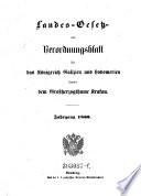 Verordnungen der Landesbehörden für das Königreich Galizien und die Bukowina