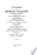 Catalogo delle monete italiane medioevali e moderne