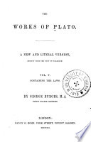 The Works of Plato  The laws