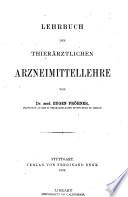 Lehrbuch der thierärztlichen Arzneimittellehre