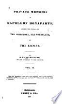 Private Memoirs Of Napoleon Bonaparte