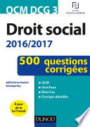 Qcm Dcg 3 Droit Social 2016 2017 4e D