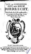 Jacob van Oudenhovens Oudt ende nieuw Dordrecht