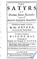 The Satyrs of Decimus Juvenalis