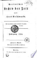 Berlinisches Archiv der Zeit und ihres Geschmacks