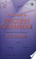 Course In English Grammar,A