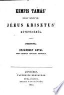 Thomas a Kempis négy Könyve Jezus Krisztus' Követésről
