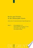 Recht und Frieden in der Philosophie Kants