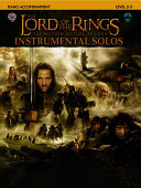 The Lord of the Rings Instrumental Solos  Piano Acc   Book   CD