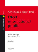 Les Fondamentaux Jurisprudence Droit International Public