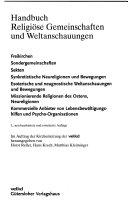 Handbuch religi  se Gemeinschaften und Weltanschauungen