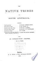 The Native Tribes of South Australia Book PDF