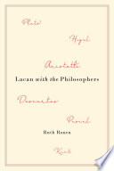 Lacan With The Philosophers