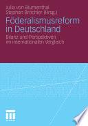 Föderalismusreform in Deutschland