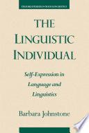The Linguistic Individual