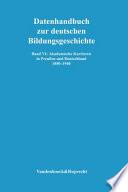 Akademische Karrieren in Preussen und Deutschland 1850-1940