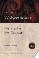 Remarks on Colour/Bemerkungen Uber Die Farben
